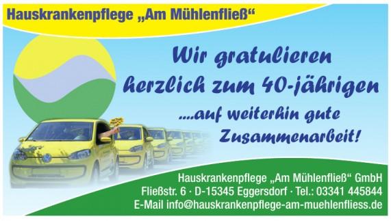 """Hauskrankenpflege """"Am Mühlenfließ"""" GmbH"""