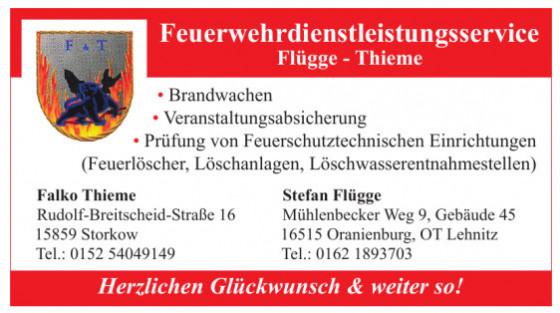 Feuerwehrdienstleistungsservice Flügge - Thieme