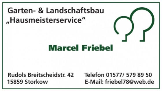 """Garten- & Landschaftsbau """"Hausmeisterservice"""" Marcel Friebel"""